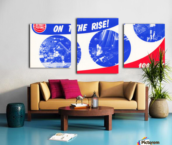 1980 detroit pistons nba basketball poster on the rise Canvas print