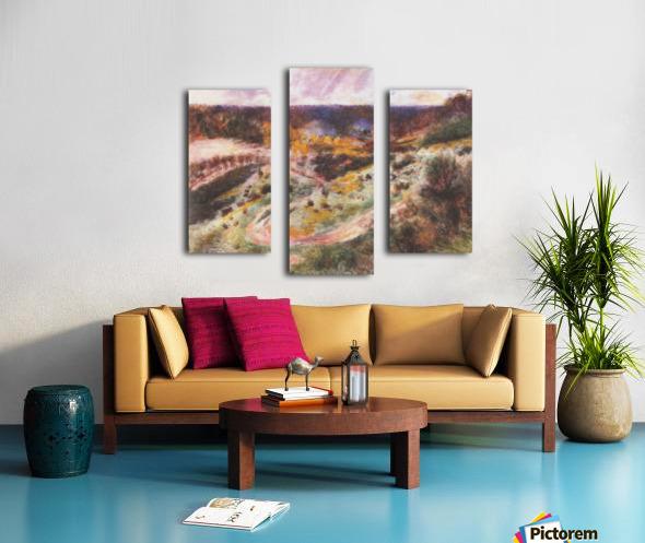 Landscape in Wargemont by Renoir Canvas print