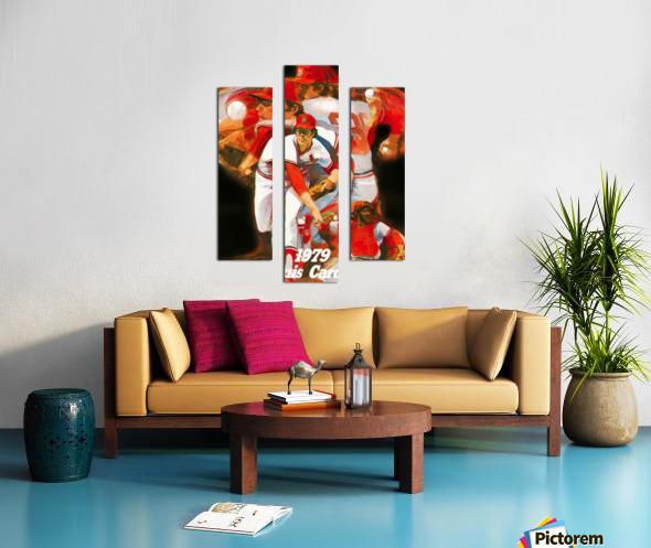 1979 st louis cardinals retro baseball poster Canvas print