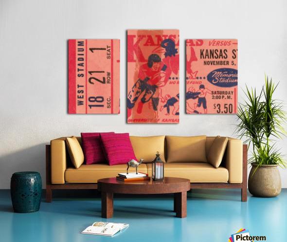 1955 university of kansas jayhawks super vintage college football art Canvas print