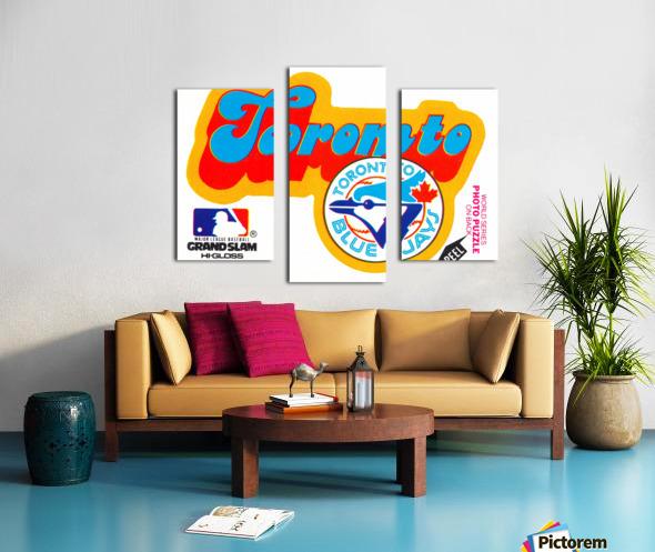 1978 toronto blue jays fleer decal baseball art reproduction poster Canvas print