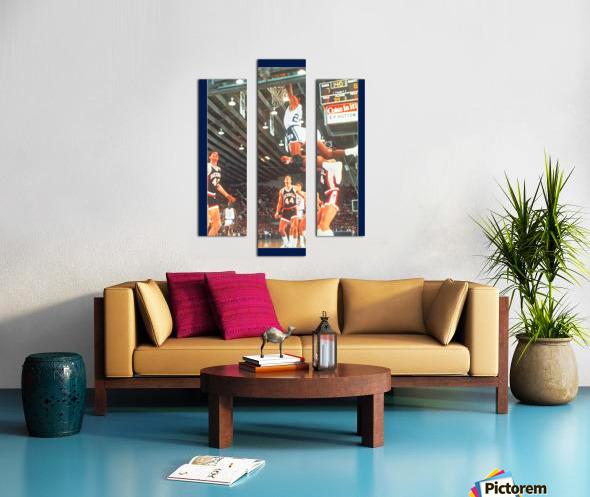 1984 johnny dawkins duke basketball dunk poster (1) Canvas print