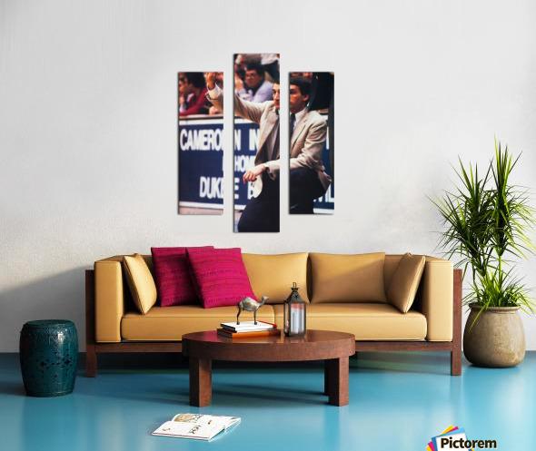 college basketball art coach k duke university basketball poster Canvas print