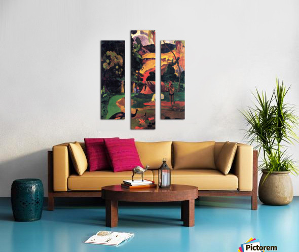 Landscape With Peacocks by Gauguin Canvas print