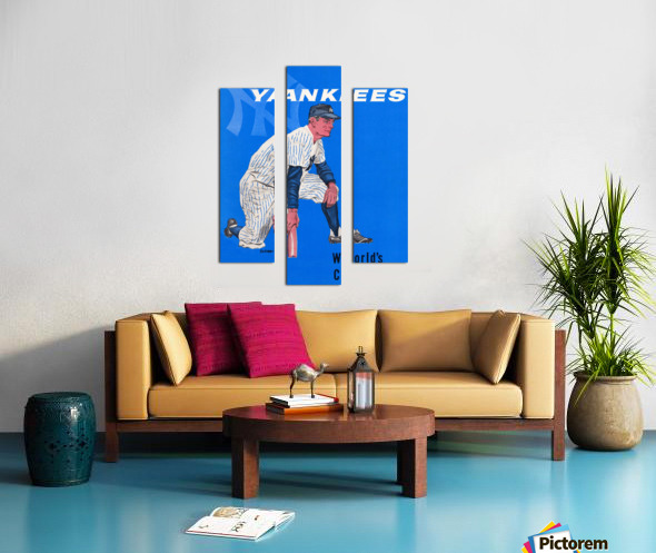 1958 New York Yankees Vintage Baseball Art Canvas print