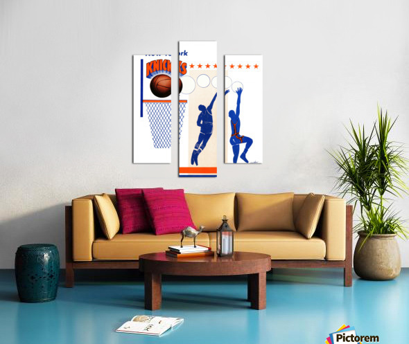 George Kalinsky Art Vintage New York Knicks Poster Reproduction Sports Art Canvas print