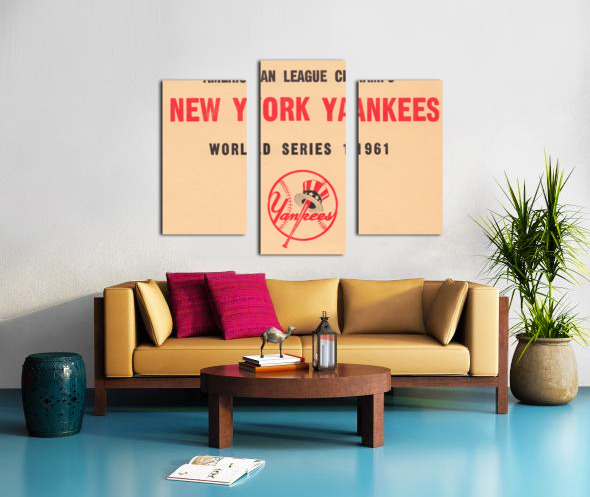 1961 New York Yankees World Series Wooden Baseball Prints Canvas print