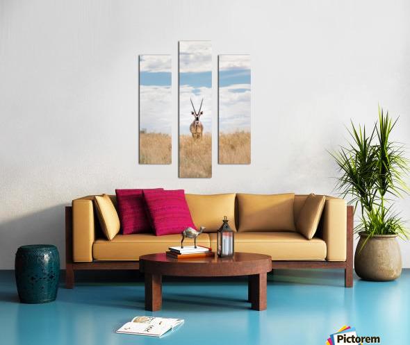 The Staredown Canvas print