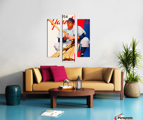 1954 new york yankees vintage baseball art Canvas print