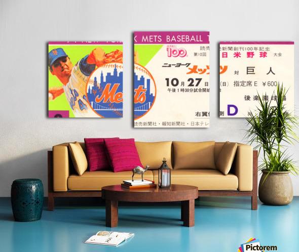 1974 new york mets baseball tour of japan korakuen stadium tokyo Canvas print