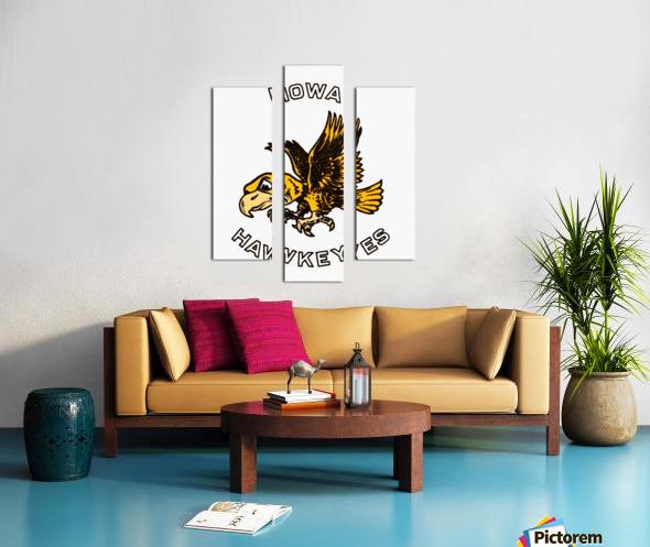 vintage iowa hawkeyes wood signs college mascot art Canvas print