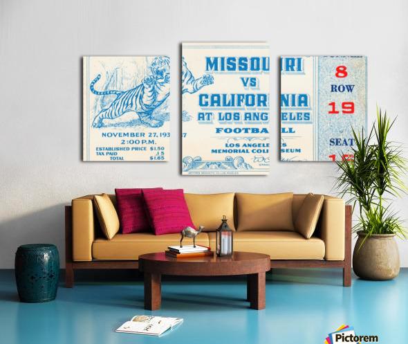 1937_College_Football_California vs. Missouri_Los Angeles Coliseum Canvas print