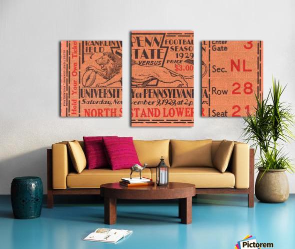 game room decor ideas 1929 pennsylvania penn state ticket canvas Canvas print