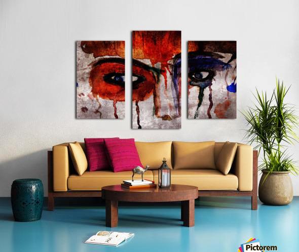 Life through her eyes Canvas print