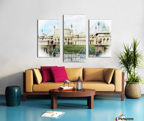 Brighton Pavilion Street View Canvas print