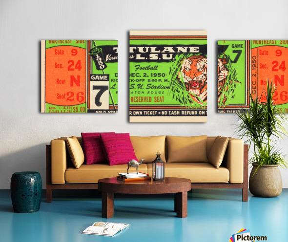 1950 tulane lsu tigers college football ticket sports art gifts baton rouge la Canvas print