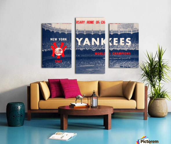 1963 new york yankees world champions scorecard canvas Canvas print