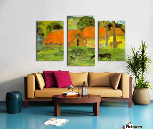 Le Trois Huttes by Gauguin Canvas print