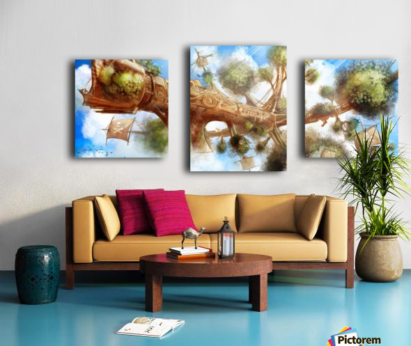 Tree Ship Canvas print