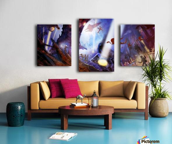 Lights On - Alien Megastructure Rama V Canvas print