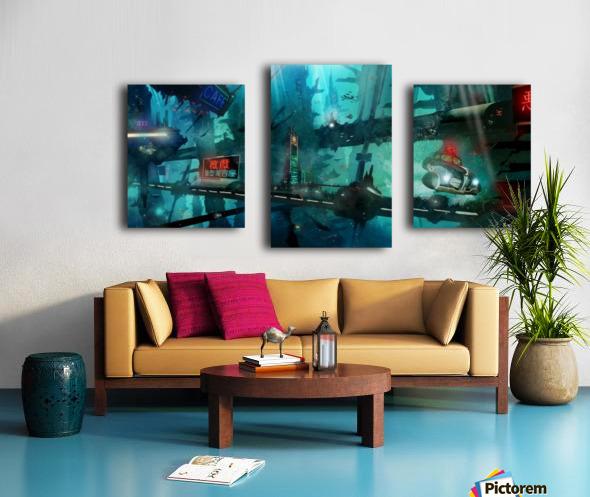 Future Noir - Abyss City Canvas print