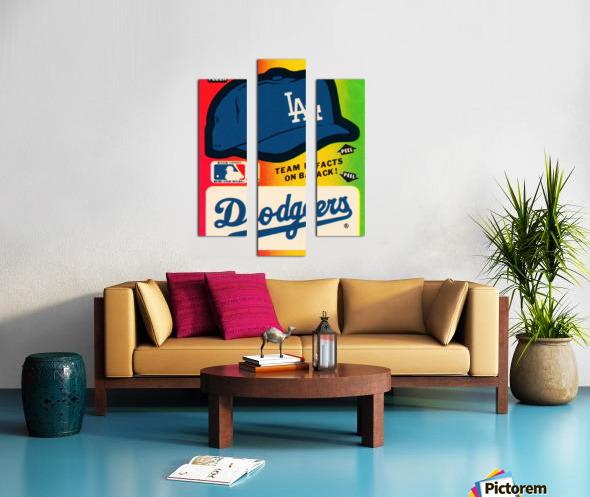 1983 fleer baseball stickers la dodgers ballcap art Canvas print