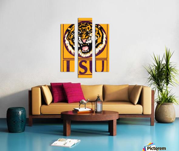 lsu tigers retro poster Canvas print