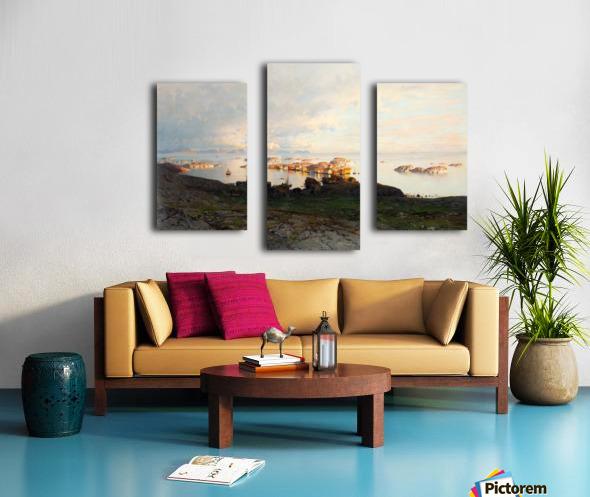 Summer night in Lofoten Canvas print