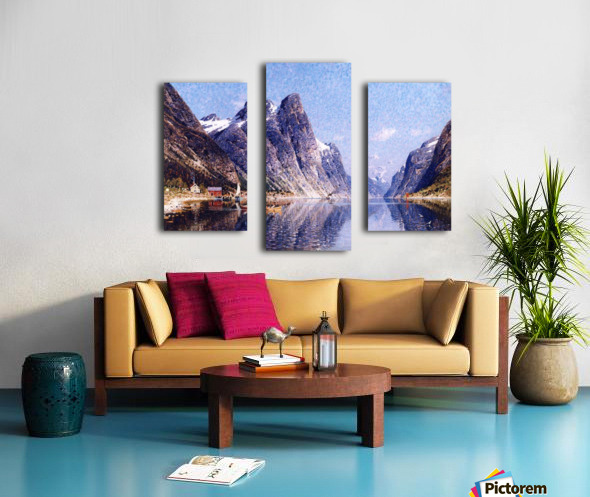 A Norwegian Fjord Scene Canvas print