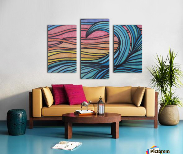 Twilight Wave  Canvas print