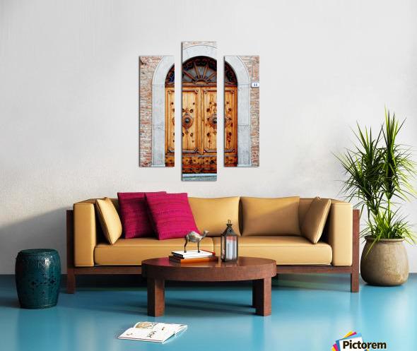 Ornate Wooden Door Citta della Pieve 1 Canvas print