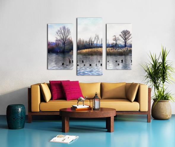 Lago di Chiusi Tuscany Canvas print
