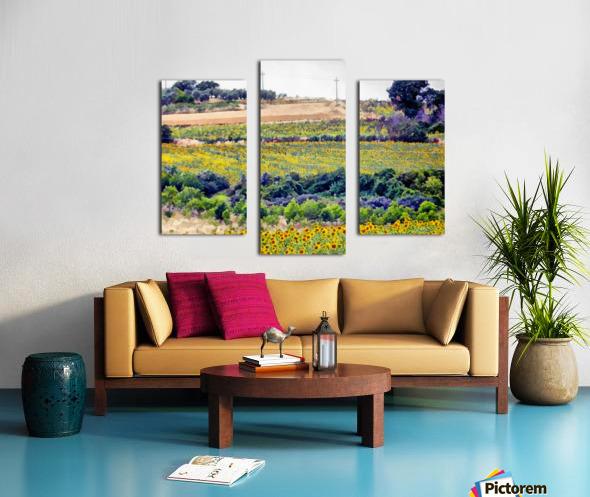Sunflower Landscape Canvas print