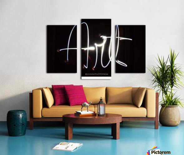 Art light calligraphy Canvas print
