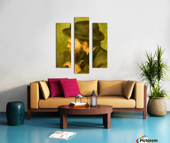 M Bernard man with the black hat Canvas print