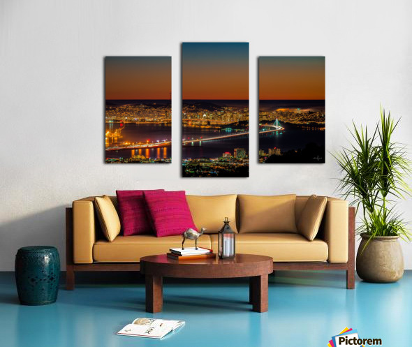 City to City - Berkeley to San Francisco Canvas print