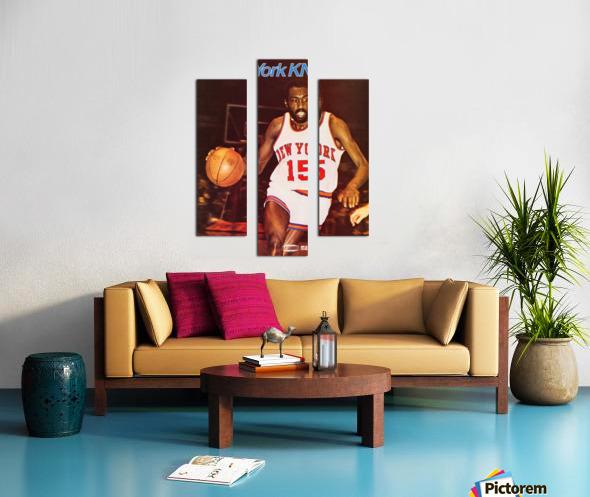 1977 new york knicks basketball poster Canvas print