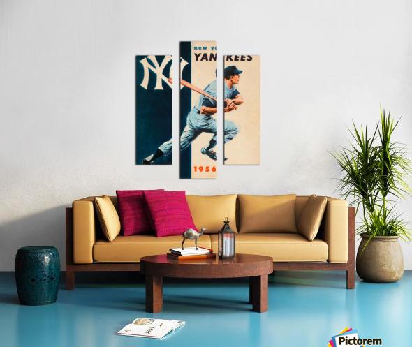 1956 new york yankees vintage baseball art Canvas print