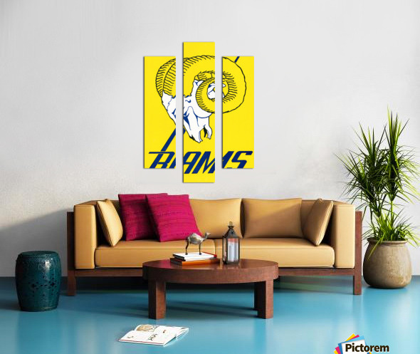vintage los angeles rams art Canvas print