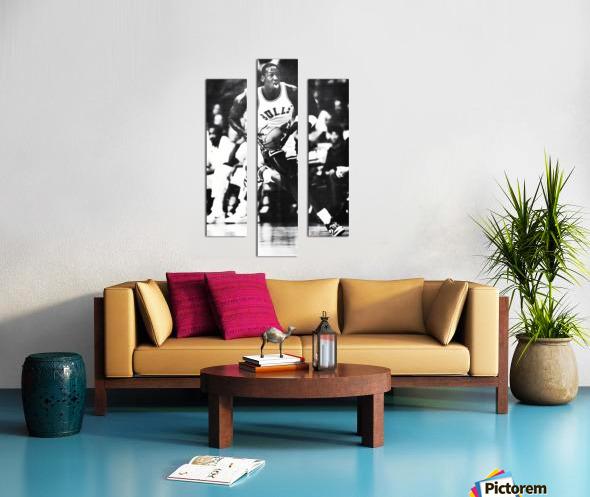 1985 Michael Jordan Black and White Poster Canvas print