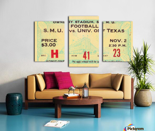 1935 SMU National Champions vs. Texas Canvas print