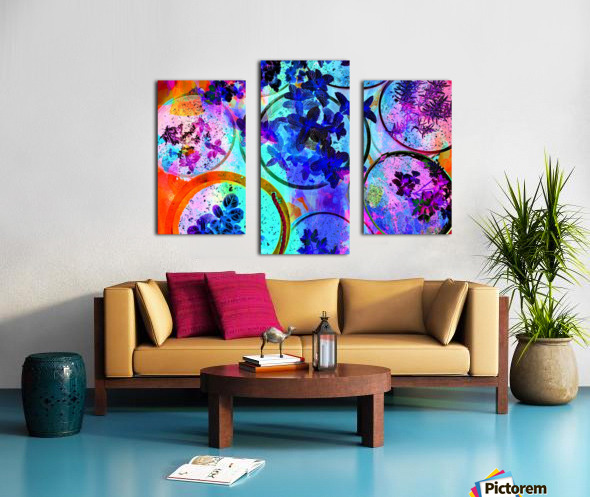 Psychedelic Herbs Canvas print