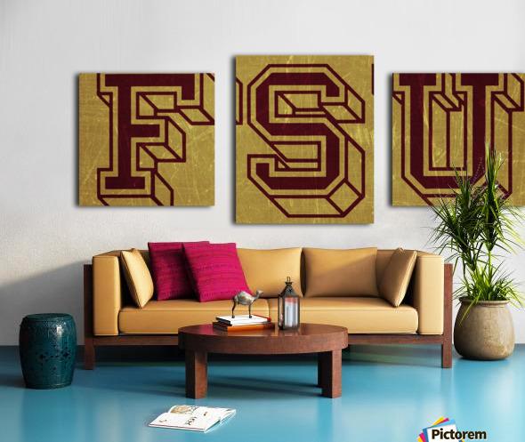 1950s Florida State University Art FSU Canvas print