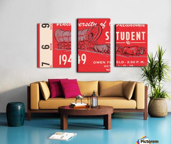1949 oklahoma sooners football student season ticket art Canvas print