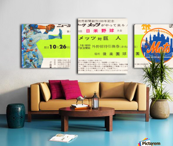1974 new york mets tour of japan ticket art Canvas print