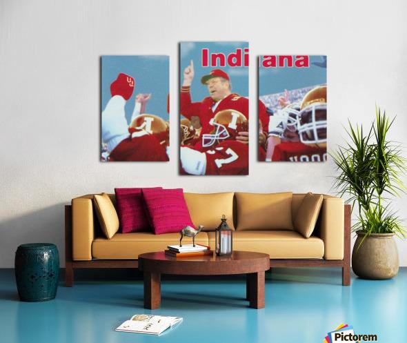 1987 indiana hoosiers iu football wall art Canvas print