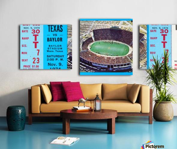 1974 baylor bears texas college football ticket art Canvas print