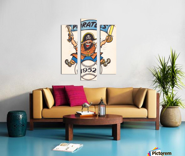 1952 pittsburgh pirates artist cy hungerford Canvas print