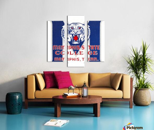 1950s Memphis State College Tigers Canvas print