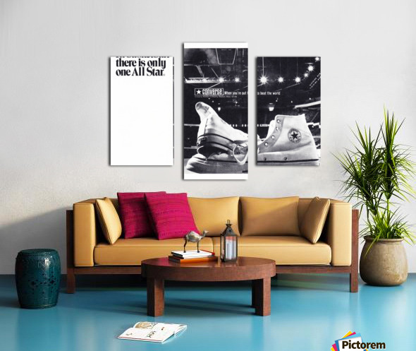 1968 converse all star shoe ad reproduction wall art Canvas print